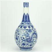 Sale 8332C - Lot 29 - Tianlong Blue & White Bulbous Vase
