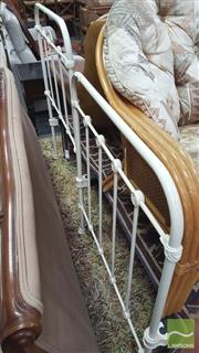 Sale 8390 - Lot 1583 - Pair of Iron Single Beds