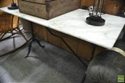 Sale 8406 - Lot 1063 - Marble Top Table (120cm)