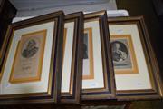 Sale 8419T - Lot 2074 - Set of (4) Framed Engravings, Portraits, frame size 35.5 x 27cm