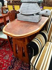 Sale 8672 - Lot 1067 - Timber Cafe Table ex. Niagara Cafe, Katoomba (H: 78.5 L: 91 W: 60cm)