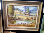 Sale 8659 - Lot 2026 - M Peryman - Morning Yarramalong Valley Wyong, 1979, oil on board, 61 x 77cm (frame size), signed lower right