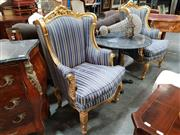 Sale 8688 - Lot 1086 - Pair of Golf Framed Upholstered Armchairs
