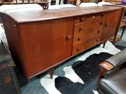 Sale 8741 - Lot 1026 - Quality Younger Aformosa Teak Sideboard