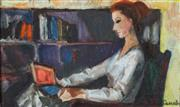 Sale 8821 - Lot 562 - Judy Cassab (1920 - 2015) - Girl Reading 22.5 x 38cm