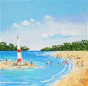 Sale 8870A - Lot 571 - Kym Hart (1965 - ) - Beach Day 30.5 x 30.5cm