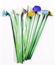 Sale 9003G - Lot 604 - A Bouquet Of Glass Flowers (L: 50cm)