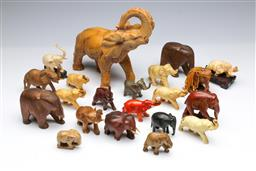 Sale 9093P - Lot 37 - Collection of Elephants in Various Materials