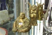 Sale 8322 - Lot 25 - Metal Buddha Figures (2)