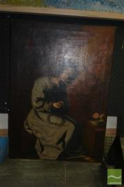 Sale 8522 - Lot 2041 - Artist Unknown (19th Century) - Wreathing Crown of Thorns 72 x 52cm