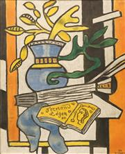 Sale 8642 - Lot 586 - Fernand Leger (1881 - 1955) - Still Life with Blue Vase 63.5 x 48cm