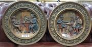 Sale 8717 - Lot 1035 - Pair of Plaques, Pub Scenes