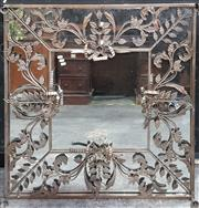 Sale 8769 - Lot 1002 - Ornate Floral Themed Metal Framed Square Mirror