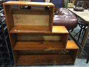 Sale 8795 - Lot 1090 - Timber Stepside Bookcase