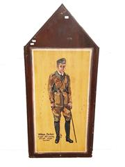 Sale 8809B - Lot 602 - William Parker. Fighter Pilot Ace, Fought 60 Enemy Aircraft Single Handed. Double Sided Hand Painted Plaque by L.M 74 (126 x 57cm)