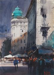 Sale 8916 - Lot 595 - Alvaro Castagnet (1954 - ) - Paris Evening 72.5 x 53 cm