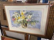 Sale 8924 - Lot 2093 - Merrit - Still Life Flowers, watercolour, SLR