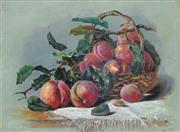 Sale 8938A - Lot 5048 - Francesca Alexander (1837-1917) - Bowl Of Peaches (c.1880) 35 x 50 cm (frame: 53 x 69 x 4 cm)