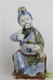 Sale 8490 - Lot 151 - Glazed Ceramic Chinese Scholar