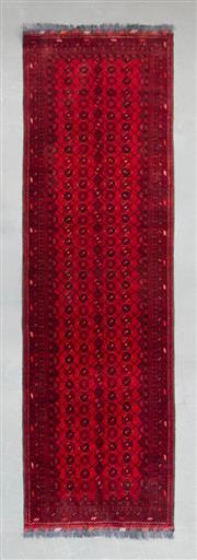 Sale 8499C - Lot 52 - Afghan Qunduzi Runner 300cm x 80cm