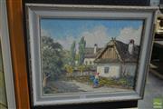 Sale 8525 - Lot 2026 - Laszlo (Les) Lukacs (1945 - ) - Watering the Garden 34.5 x 43.5cm