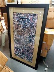 Sale 8686 - Lot 2089 - Jackson Pollock - Untitled (Abstract), framed decorative print, 90 x 153cm (frame size)