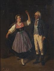 Sale 8764 - Lot 580 - Adele Riche (1791 - 1878) - Quadrille 27 x 21cm