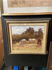 Sale 8891 - Lot 2002 - Betty Osborne - Old Bindaoil on board, 57 x 64cm (frame), signed lower left