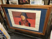 Sale 8903 - Lot 2050 - Victoria Nadas Olga at the Rock screenprint ed. 1/8, 71.5 x 101cm (frame), signed -