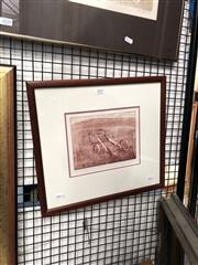 Sale 8903 - Lot 2022 - Brian Dunlop Chassis colour etching ed. 6/21, signed lower right
