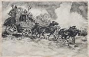 Sale 8938A - Lot 5047 - Reginald Russom (1887 - 1952) - Cobb & Co. 1922 20 x 32 cm (48 x 58 x 4 cm)