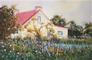 Sale 9045 - Lot 2016 - Marcie Rea (1945 - ) - Cottage Garden in Spring, Freemans Reach 29.5 x 45 cm (frame: 53 x 68 x 3 cm)