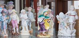 Sale 9103M - Lot 431 - A shelf lot of ceramic figures, Tallest 31cm