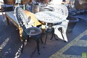 Sale 8390 - Lot 1353 - Metal Alloy Three Piece Garden Setting