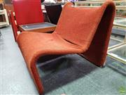 Sale 8566 - Lot 1021 - Pierre Paulin Orange Upholstered Chair