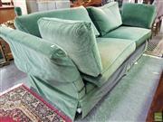 Sale 8611 - Lot 1049 - Moran Green Velvet Knole Settee