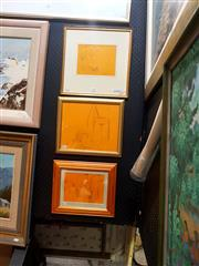 Sale 8671 - Lot 2019 - Group of (3) Bill Coleman ink drawings (framed/various sizes) -