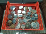 Sale 8676 - Lot 1357 - Crate Polished Natural Agate Slices