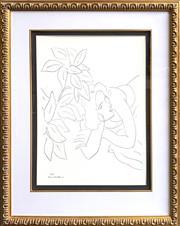 Sale 8682 - Lot 2012 - Henri Matisse, Nude, a decorative print, 93.5 x 74.5cm (frame size)
