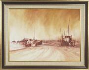 Sale 8762 - Lot 2045 - Rex Backhaus-Smith (1935 - ) - Muddy Bay, Airlie Beach Nth Queensland 54 x 78cm