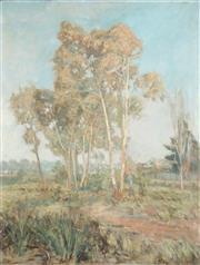 Sale 8773 - Lot 591 - George Frederick Reynolds (1880 - 1932) - Ghost Gums, 1916 90.5 x 69.5cm