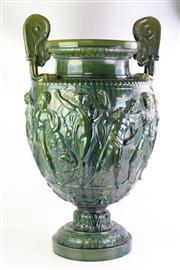 Sale 8840 - Lot 50 - Clement Messier Large Green Amphora Vase (c1900s)