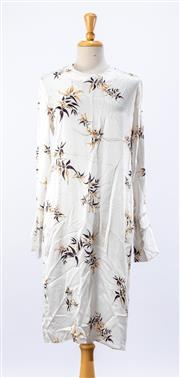 Sale 8891F - Lot 93 - A Matin printed silk shift dress with double cuffs, size 10