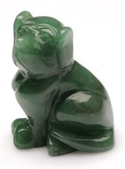 Sale 9078 - Lot 82 - A Chinese stone carving of a dog H5cm