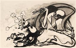 Sale 9252A - Lot 5053 - FRED CRESS (1938 - 2009) Chases II colour lithograph, ed. 6/67 (unframed) 89.5 x 63 cm, sheet signed and dated lower right