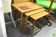 Sale 8287 - Lot 1025 - Good Danish Teak Nest of Tables