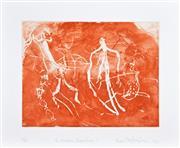 Sale 8301A - Lot 87 - Frank Hodgkinson (1919 - 2001) - The Arnhem Experience I & II, 1980 25.5 x 32cm, each