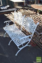 Sale 8390 - Lot 1346 - Metal Alloy Garden Bench Seat