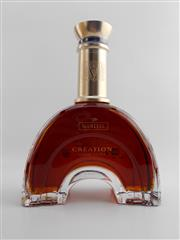 Sale 8479 - Lot 1704 - 1x Martell Creation Grand Extra Cognac - Roman Arch decanter bottle in leather presentation box