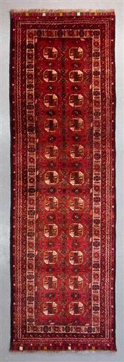 Sale 8499C - Lot 53 - Afghan Qunduzi Runner 300cm x 80cm